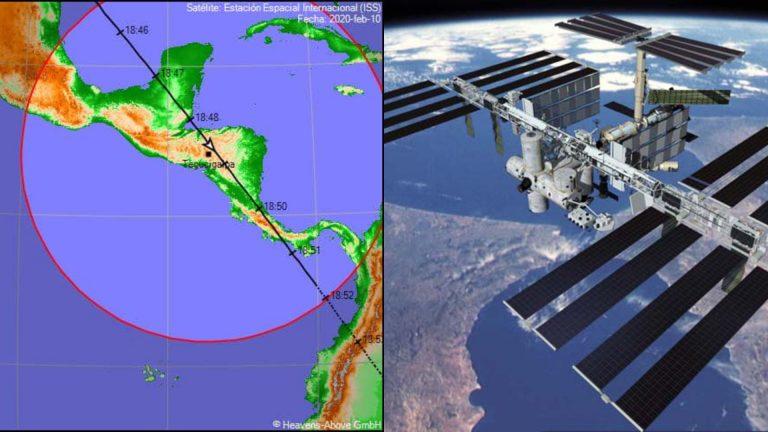 Estación Espacial Internacional pasará sobre Honduras durante seis minutos