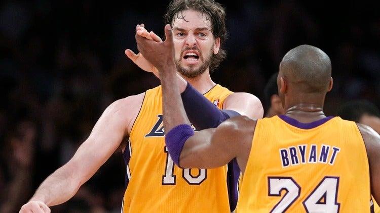 Paul Gasol recordó a su amigo Kobe Bryant en emocionante discurso