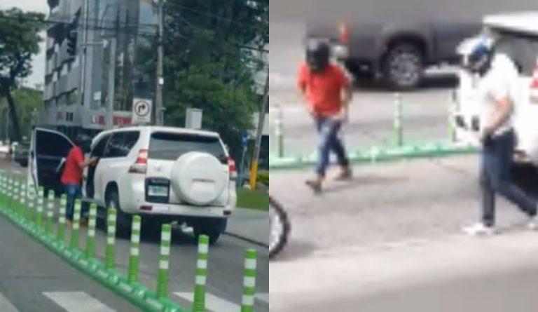VÍDEO: sujetos en moto asaltan a ciudadano en barrio Los Andes