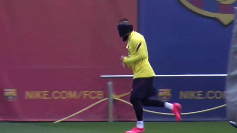 ¡CURIOSO! Setién enseña a entrenar con ojos vendados a sus jugadores