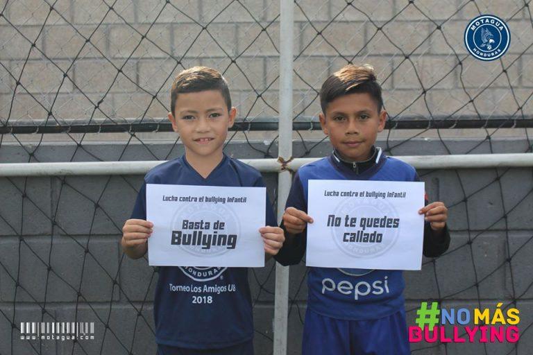"Motagua infantil se une a la campaña ""No más bullying"""