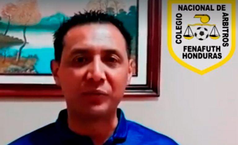 Árbitros de Honduras hacen campaña contra el COVID-19