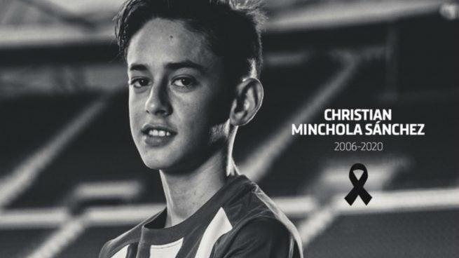 Fallece jugador del Atlético de Madrid infantil a sus 14 años