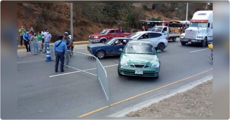 TGU: ni entrada ni salida; bloqueada la CA-5 a la altura de El Durazno