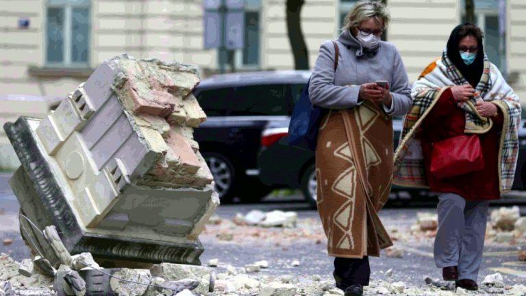 Fotos: Sismos y Covid-19 en Zagreb, capital de Croacia: heridos y daños