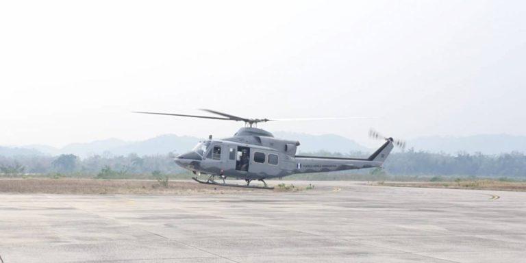 Guatemala combate incendios con apoyo de helicóptero hondureño