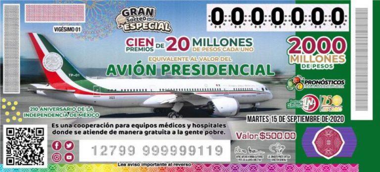 AMLO confirma distribución de boletos de la rifa del avión presidencial