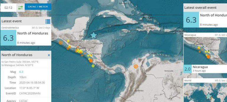 Sismo de 6,0 sacude a hondureños que habitan la costa caribeña