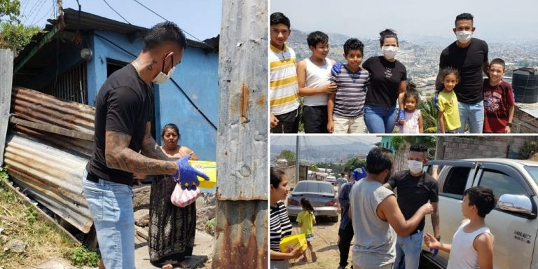 Carlos Discua lleva ayuda a más de 60 familias en crisis de COVID-19
