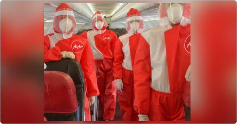 Aerolínea crea un nuevo uniforme anti coronavirus para sus azafatas