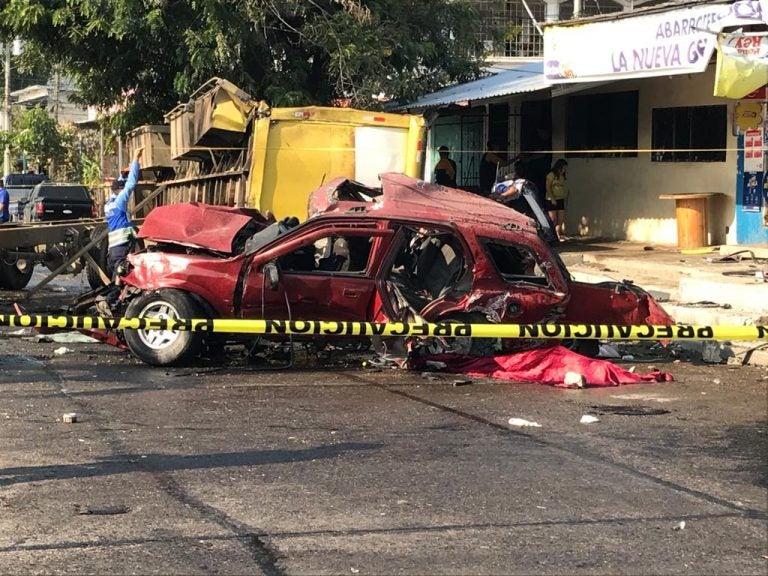 Dos personas murieron durante un accidente en San Pedro Sula