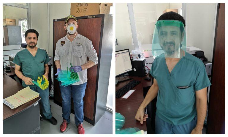 UTH y Plastimás donan máscaras 3D a la morgue de SPS y al Catarino Rivas