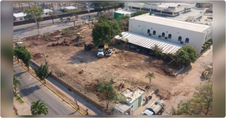 Cortan los árboles en oficinas del PANI; construirán hospital móvil para Covid-19