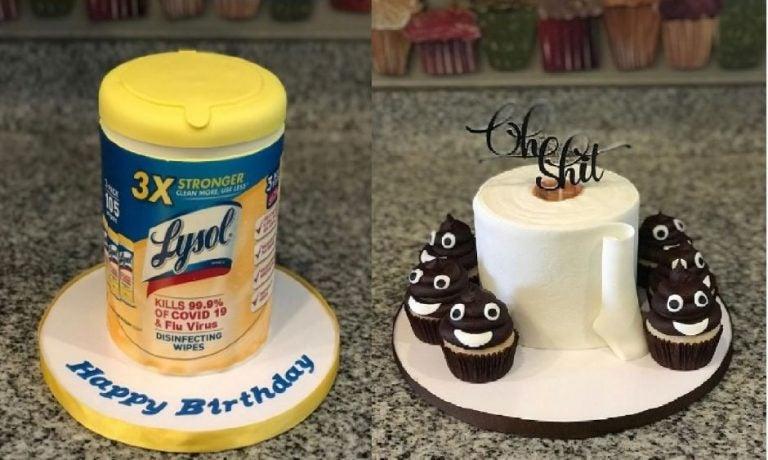 COVID-19: Hacen pasteles con forma de papel higiénico y desinfectante