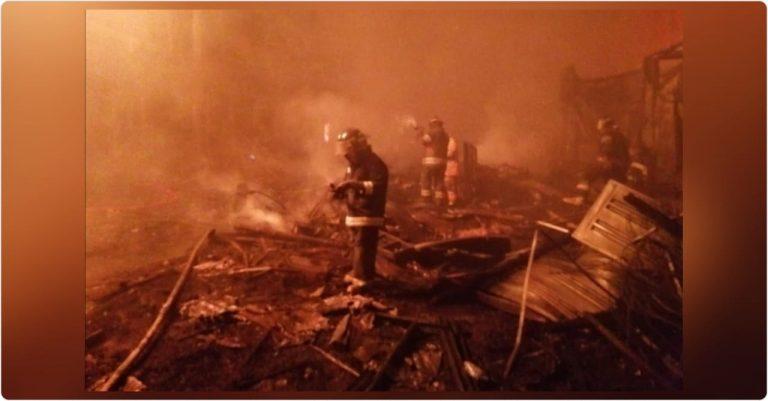 Voraz incendio consume cientos de negocios en mercados de Comayagüela