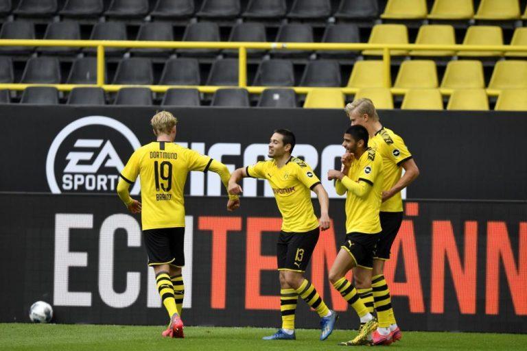 Festín de goles del Dortmund ante el Schalke en el regreso del fútbol