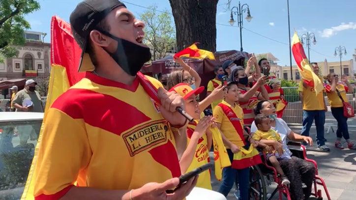 Aficionados de Morelia se manifiestan en plena cuarentena