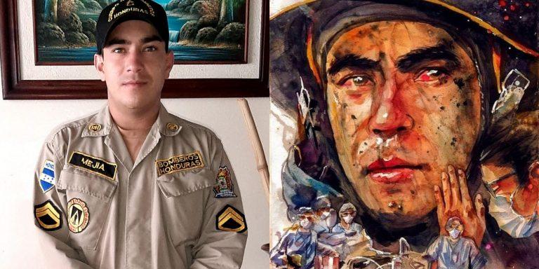 HISTORIA HUMANA: José Mejía, el bombero que con su rostro conmovió a los hondureños