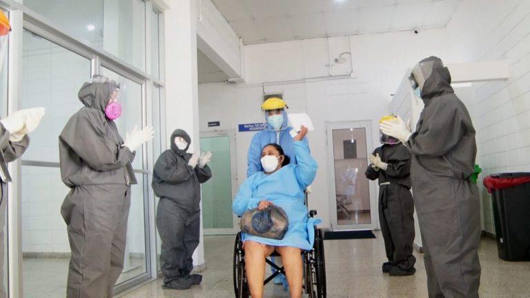 Covid-19: Más hondureños sanados abandonan Unidad Estabilizadora en SPS