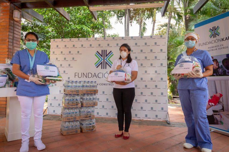 Fundación dona materiales de bioseguridad y alimentos a hospitales de Honduras
