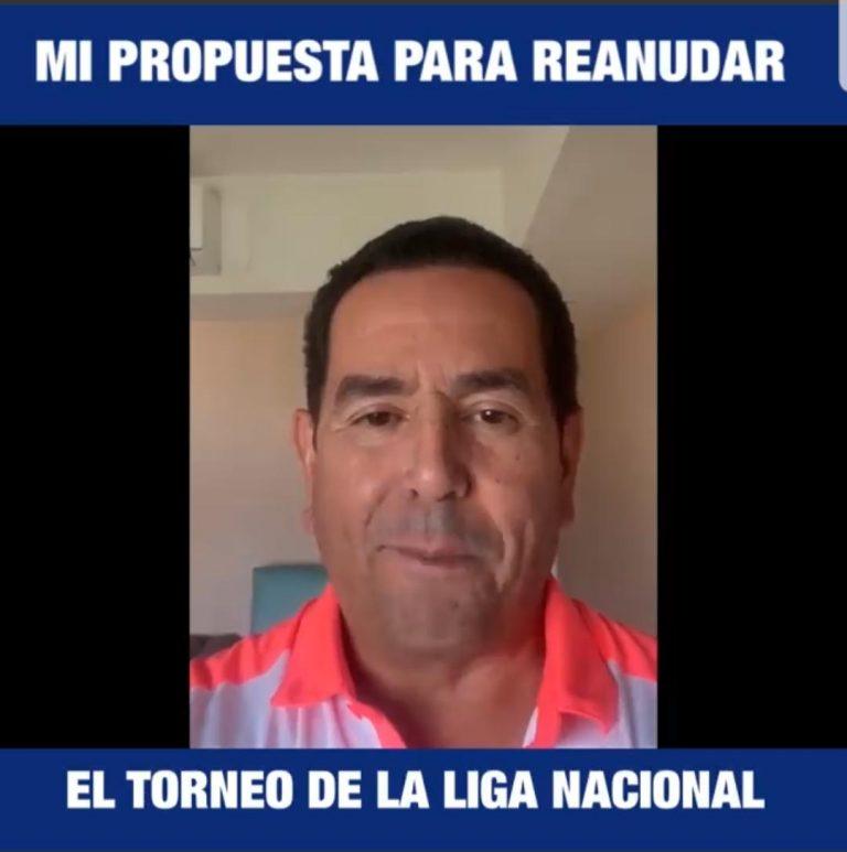 VIDEO: Toño Rivera pide que se reanude el torneo de Liga Nacional