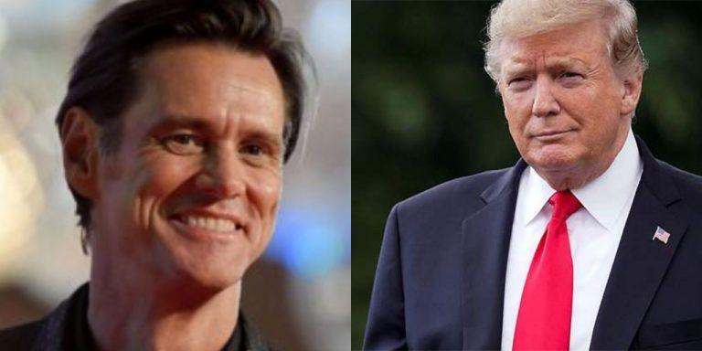 VIDEO: Jim Carrey tosió a propósito la cara de Donald Trump