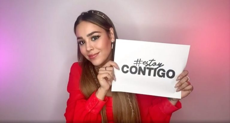 "Danna Paola lanza reto viral para ""sanitizar"" lugares vulnerables al COVID-19"