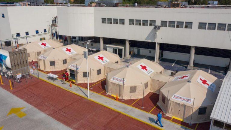 México: Cruz Roja instala hospitales provisionales para pacientes con Covid-19