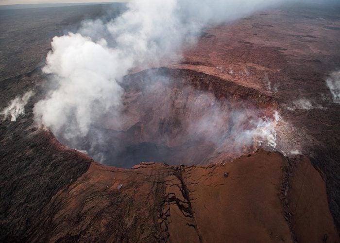 Hawaii: NASA descubre lago de agua en el volcán Kilahuea