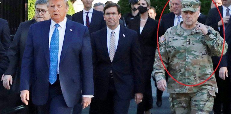 Jefe de FF.AA de EEUU se disculpa por haber acompañado a Trump