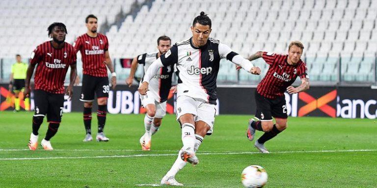 Juventus empata frente al Milan y es finalista de la Copa Italia