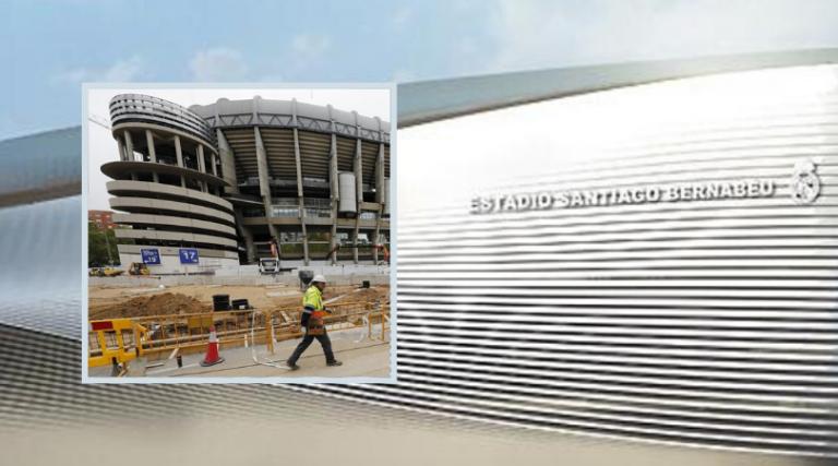 Así se ve el Santiago Bernabéu en plena reconstrucción