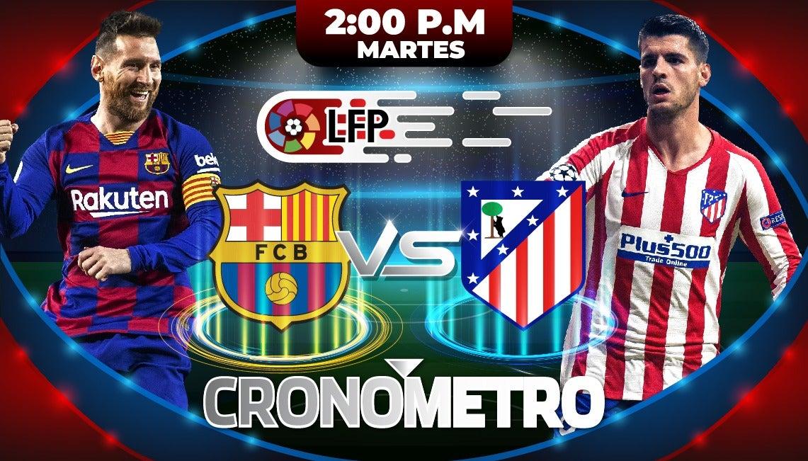 HOY: Barcelona recibe al Atlético de Madrid en la jornada 33 de LaLiga