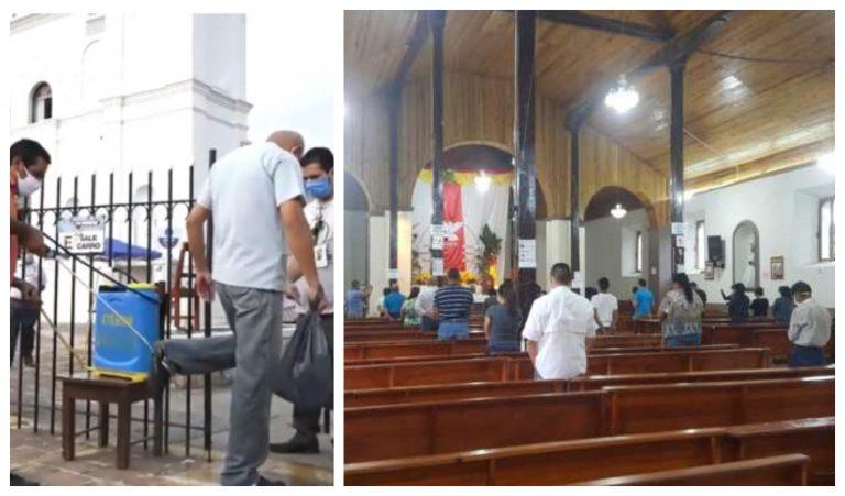 Con fe y la obligatoria mascarilla, feligreses celebran la primera misa en Gracias