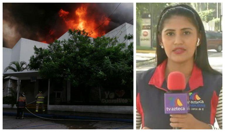 Nathalie: periodista que narró el incendio del Mercado Guamilito, lugar que la vio nacer