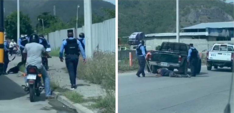 DIDADPOL investigará a policías que golpearon salvajemente a transportistas