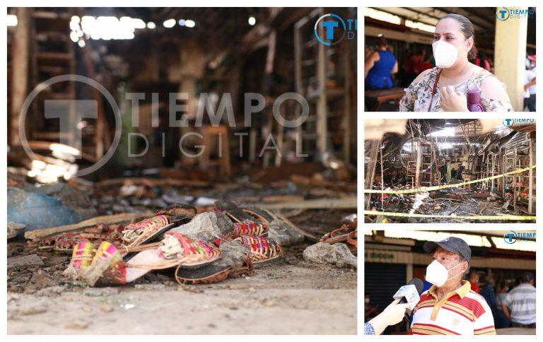 Dos historias enlazadas por la lucha y fe de resurgir de las cenizas en el Mercado Guamilito