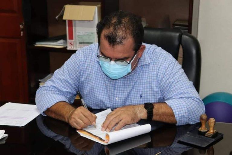Alcalde de San Lorenzo donó un mes de su salario para lucha contra el Covid-19