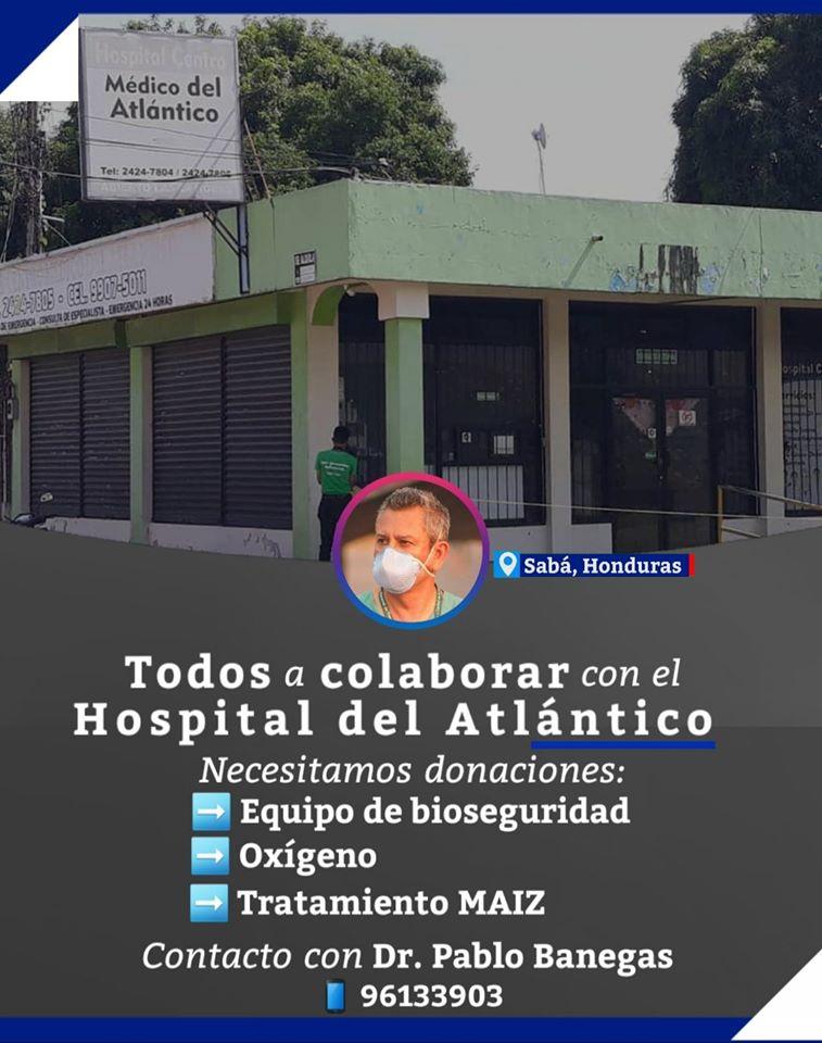 Crean campaña para donaciones al hospital del Atlántico