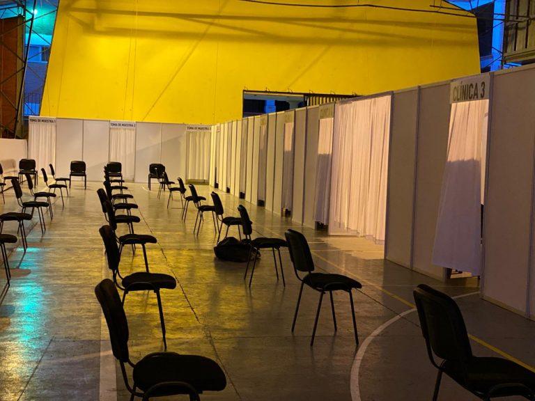 TGU: instalan tercer centro de triaje en la Universidad Católica
