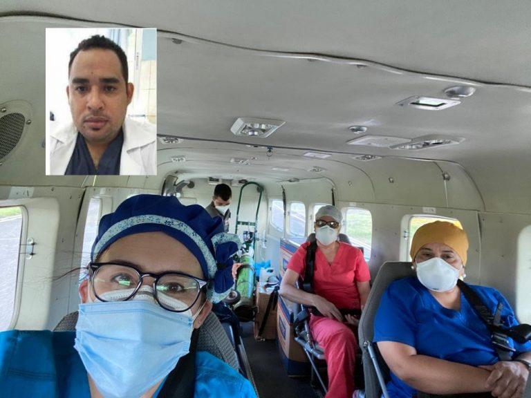TGU: Trasladan desde Puerto Lempira a médico que se complicó por el Covid-19