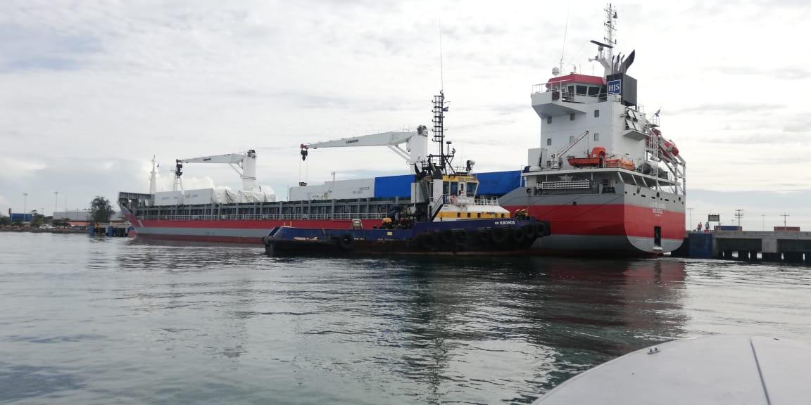 El buque atracó esta mañana en Puerto Cortés.