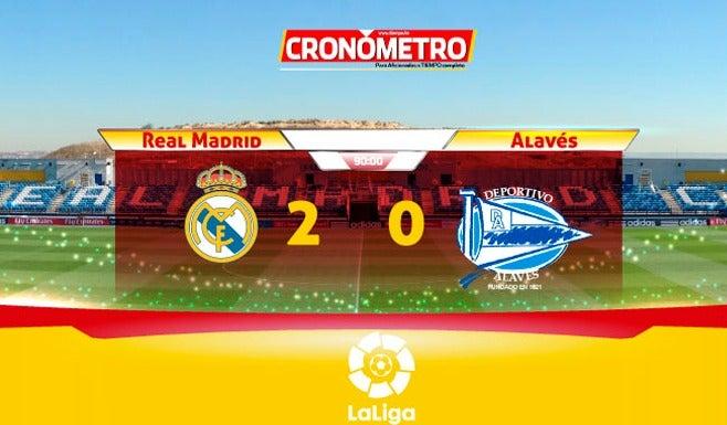 LaLiga: Real Madrid doblega al Alavés y mantiene su racha