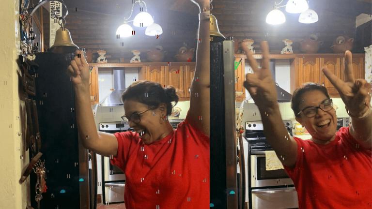 Familia Espinoza suena la campana al recibir ayudas para hondureños con COVID-19