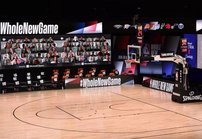 Con Microsoft Teams: público vivirá los juegos de NBA desde la orilla de la cancha