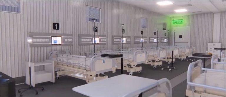 VÍDEO | ¿Cómo se vería un hospital móvil ya instalado?