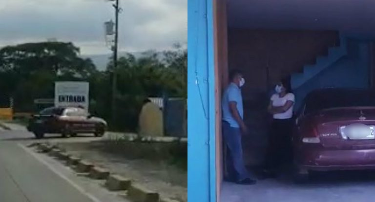 VÍDEO: hombre sigue y «cacha» a su mujer cuando entraba a un motel