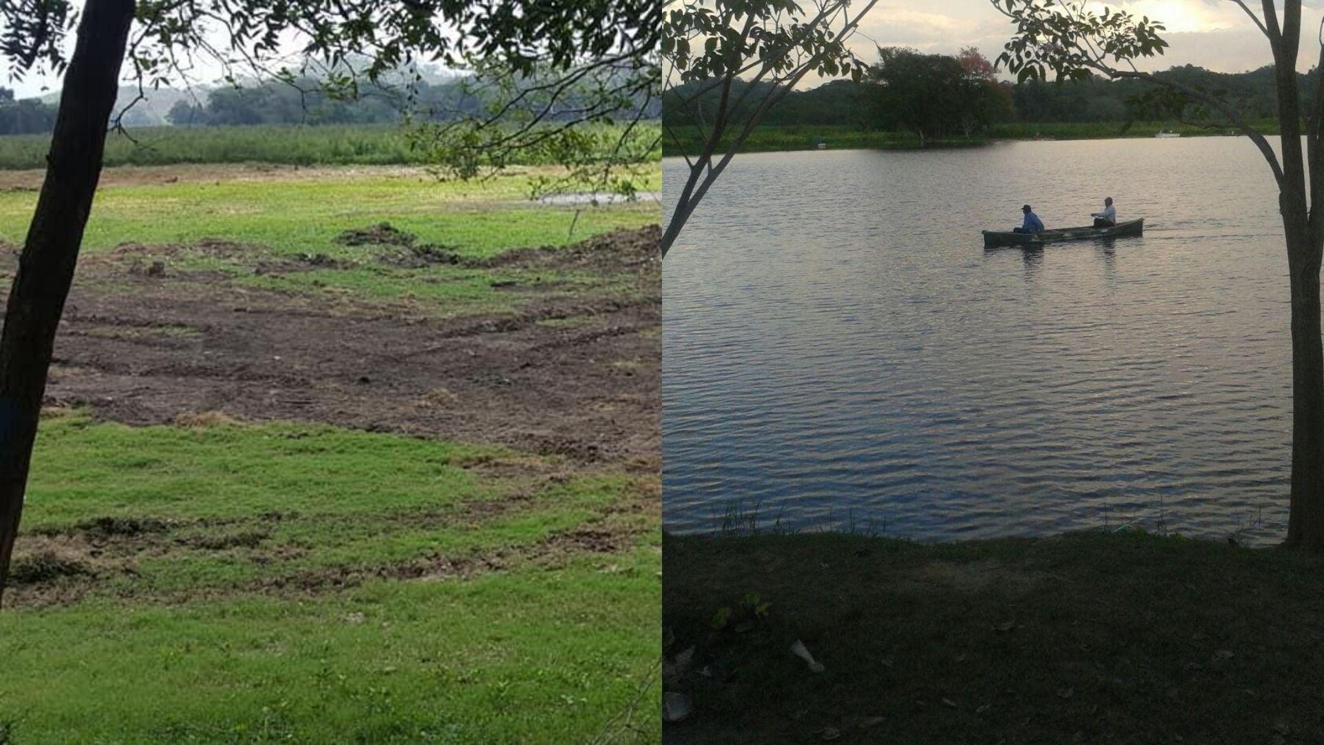 La Laguna de Ticamaya quedó completamente seca.