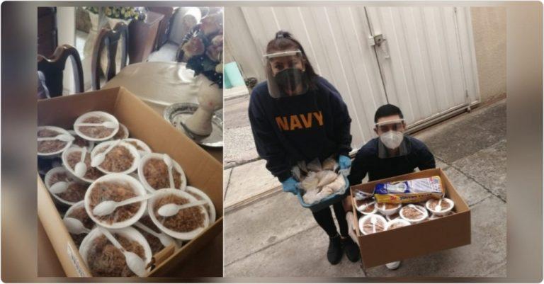 Joven capitalino celebra su cumpleaños repartiendo comida a indigentes