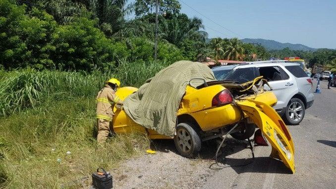 Accidente en Tela